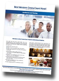 Cresta Court Hotel conference brochure