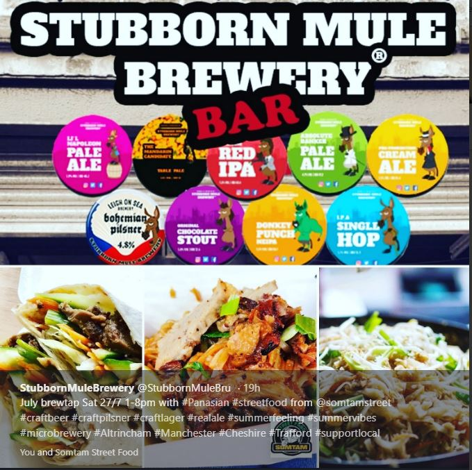 Stubborn Mule Brewery offers 2019 Somtam Brewtap