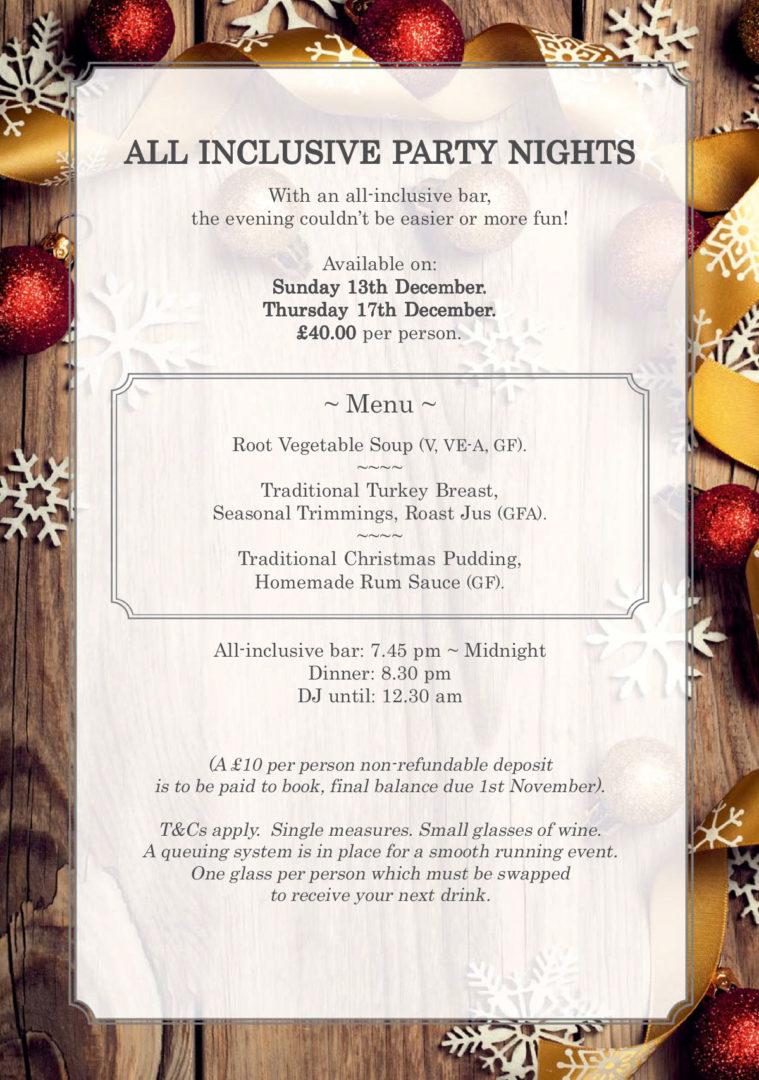 Cresta Court Hotel Altrincham Christmas Brochure 2020