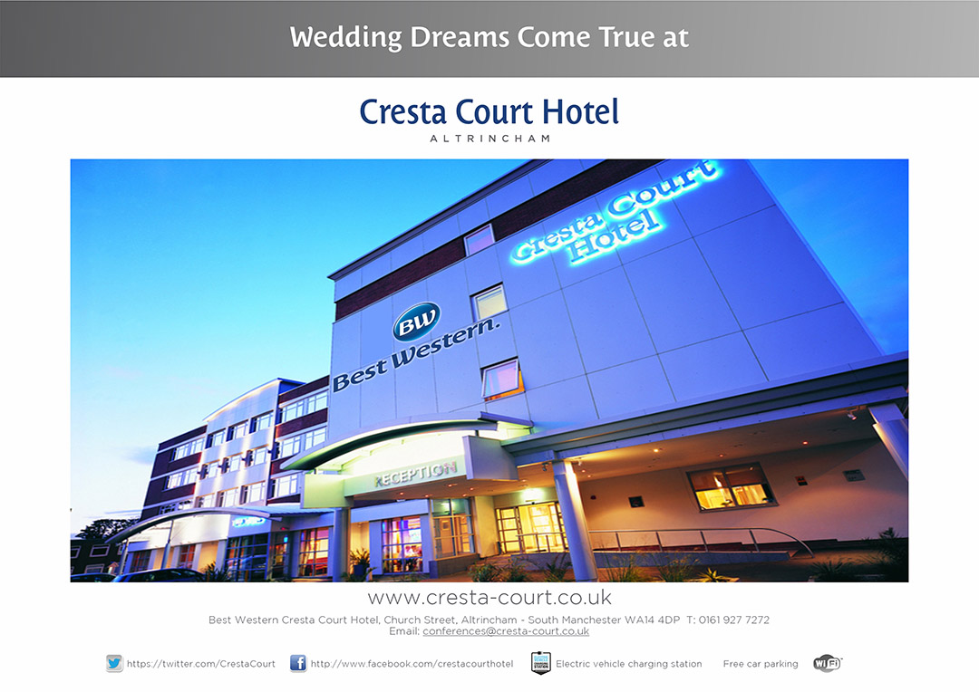 Best Wester Cresta Court Hotel Weddding venues in Manchester and Cheshire