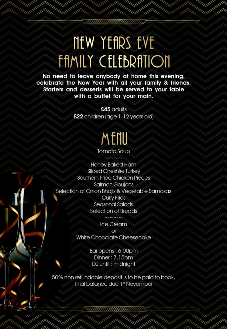 New Years Eve Family Celebration at Cresta Court Hotel 2021