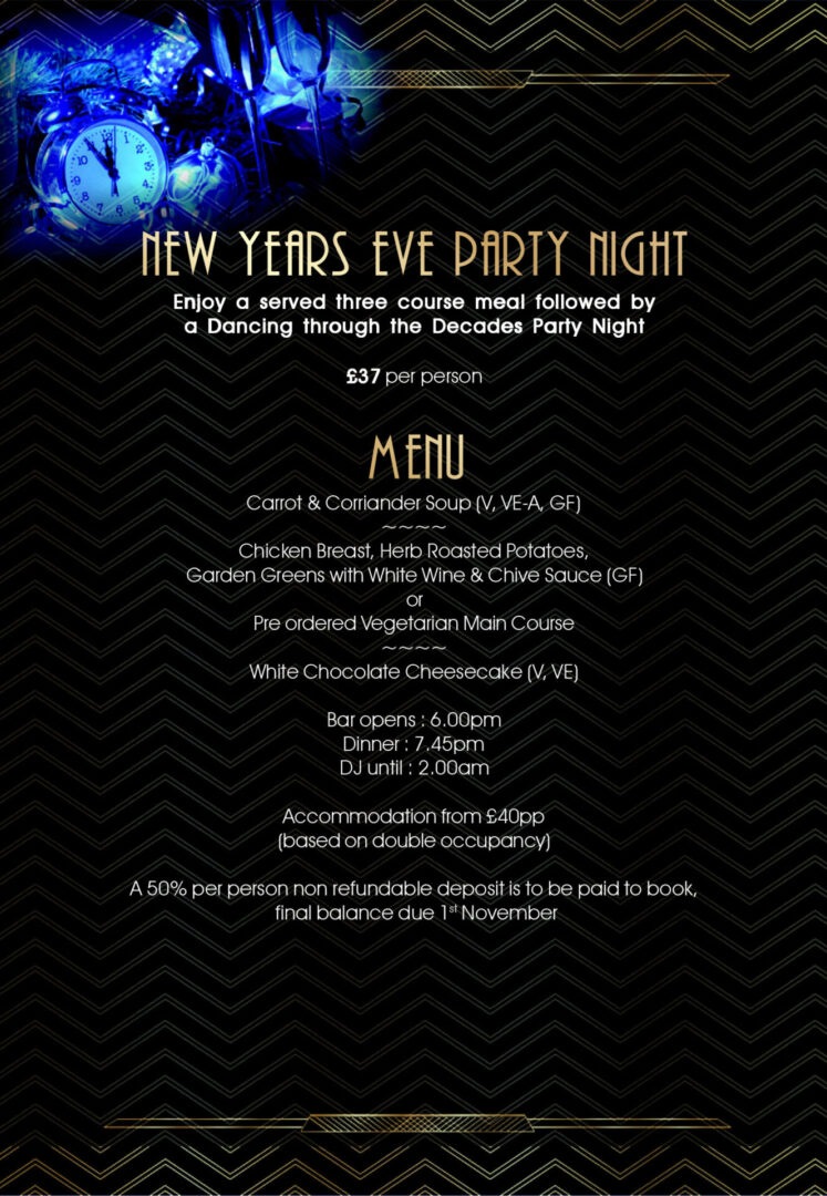New Years Eve party at Cresta Court Hotel 2021