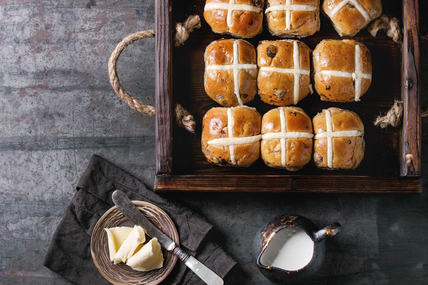 hot-cross-buns-at Cresta Court Hotel Altrincham Cheshire Borders